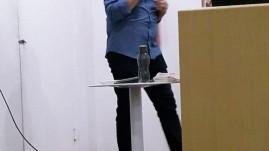 O professor Sérgio Murilo Portela, de Santa Catarina, na palestra Movimento e Cognição.
